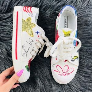 Marc Jacobs limited edition✨Scribble art sneakers